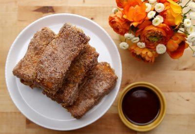 Crunchy Churro French Toast Sticks