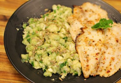 Keto Tilapia and Cauliflower Salad