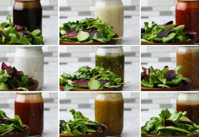 Mason Jar Salad Dressing 9 Ways