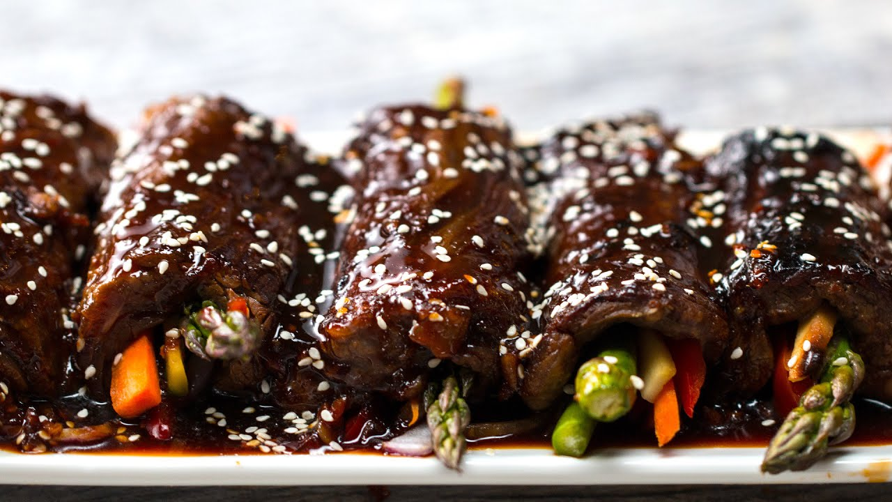 Teriyaki Steak Roll-Ups