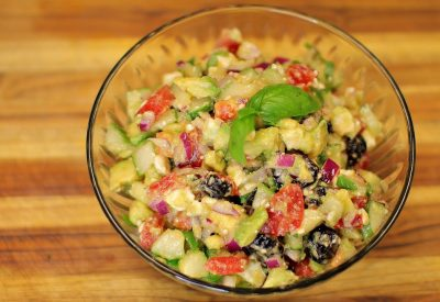 Tomato Cucumber and Avocado Salad