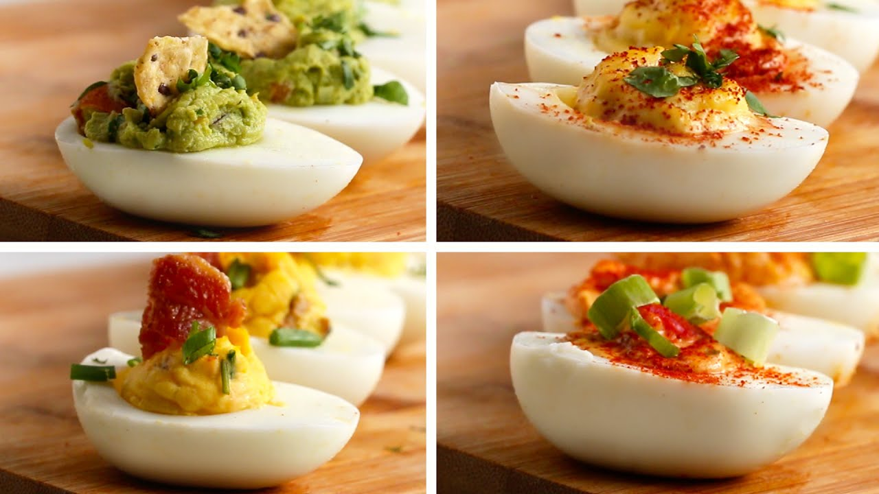 Deviled Eggs 4 Ways - Healthy Treats